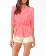 2013 latest new models of elastic waist blouse
