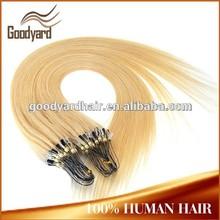 100% 1g, stock brazilian loop tangle free cutcile fusion /Micro ring loop /Micro bead /Micro link hair extension