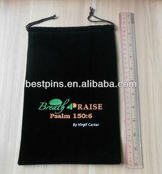 Custom logo gift velvet pouch for Ipad