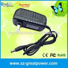CE RoHS FCC certificated 100-240v ac/dc 12v 2a adapter