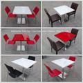 o mais recente design de superfície contínua acrílica hexagon mesa de jantar
