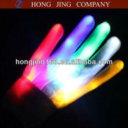 LED glove.flashing glove.light up glove