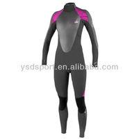 Custom 3.5mm-5mm Long Sleeves Full Neoprene Smooth Skin Wetsuit