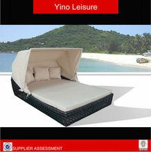 New style garden rattan/wiker sun loungers/sun bed RL0104