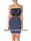 2013 new fashion sexy white sleeveless short cheap short dresses diy without back