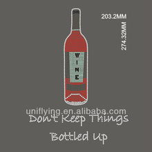 Don't keep things bottled up wine rhinestone heat transfer