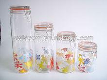 Airtight glass jar set with glass lid SL010-HT31-A1/B1/C1/D1
