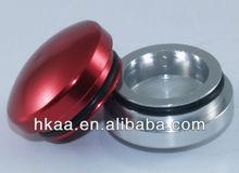 custom lathe machine color anodized aluminum end cap