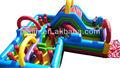Attractive gonflable aire de jeux cours de jeux pour enfants