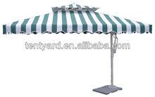 2012 wicker polyester aluminum waterproof patio umbrella