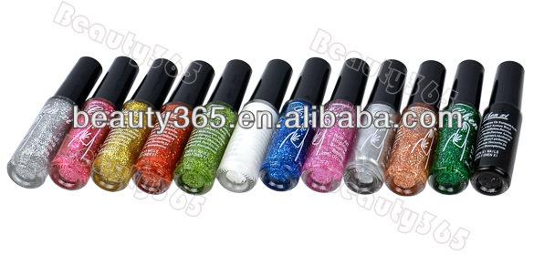 New 12 Colors 10ml Nail Polish Liner Brush Pen