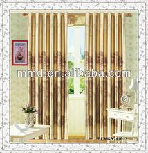2015 New shining 100% polyester fashionable tree design window curtain fabrics floral designs