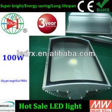 high brightness led pole light 100w Bridgelux led chip UL Meanwell driver halogen metal halide hps hid replacement