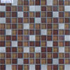 brown glass mix stainless steel mosaic tile for background wall