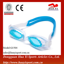 2012 Waterproof professional one-piece silicone swimming goggles