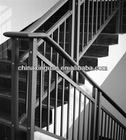 Wrought iron handrails for porch steps MADE in FACTORY with in-house powder coat line