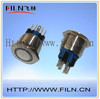 22mm flat round stainless steel 6v white led light illuminated pushbutton switch with pilot light