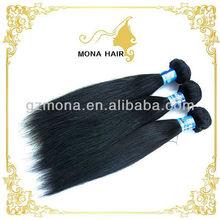 AAAAA grade tangle free raw virgin brazilian hair straight silky humn hair