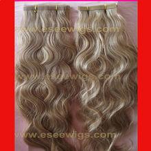 Low AAAAA grade 100% human real remy eurasian virgin tape hair extensions