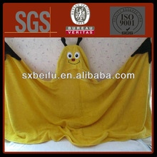 butter fly shape animal shape cotton blanket with cloak