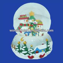 new year christmas decoration snowman snow globe