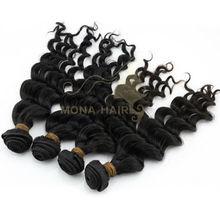 Stunning new look natural wavy color 1b eurasian human hair factory price