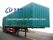 best selling cargo semi trailer house,3 axles trailer cargo carrier,side open box utility trailer