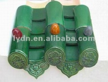 Green Chinese Traditional Roof Tiles Clay