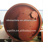 gas heating waste tyre and rubber pyrolysis machine for fuel