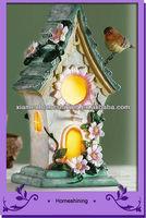 delicate bird house solar garden led light