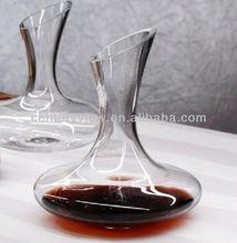 clear unique design art glass wine decanter