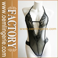 Black Lace Halter Sexy Woman Nude Lingerie
