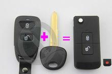 modified hyundai tucson folding style car key case flip key cover for Hyundai tucson factory direct