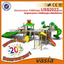 ASTM standard outdoor playground fences,children slide playset (VS2-121210-17-22)