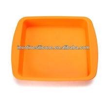 olímpicos de londres de juego fine3035 proveedor estándar de la fda cuadrado amarillo de silicona placa de hornear