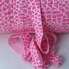 Leopard glitter ribbon elastic