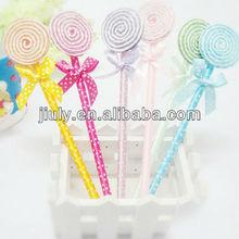 cute lollipop shaped ballpoint pen for girl