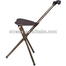 Aluminum three legs Seated walking stick