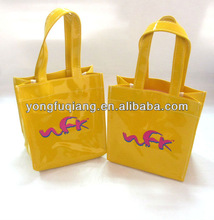 Yellow small pvc leather brand handbags fashion designer