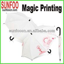 Colour change magic printing umbrella