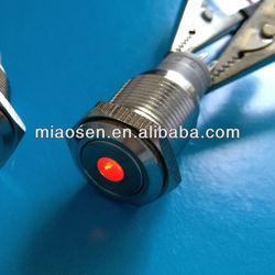 12 volt 16mm dot led push button switch