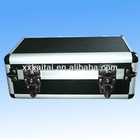 Black carrying aluminum tool case with drawers