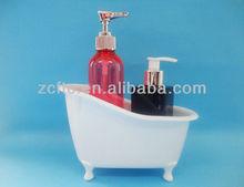 plastic portable bathtub container for toiletries,lotion bottles
