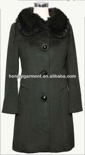 Elegant new style women wool fashion coat double faced wool coat