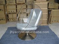 romantic acrylic rotating chair