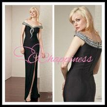 beading sexy 2012 black evening dress