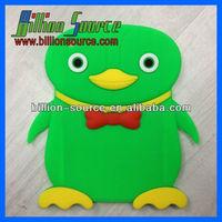 Cute penguin Soft Silicone Rubber Protective Case Cover Skin For iPad Mini 12 color