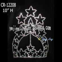 large tiara star shape pageant crown