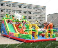 high quality inflatable slide lion and tiger race slide
