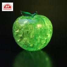 3d button led light up plastic toys musical apple for kids